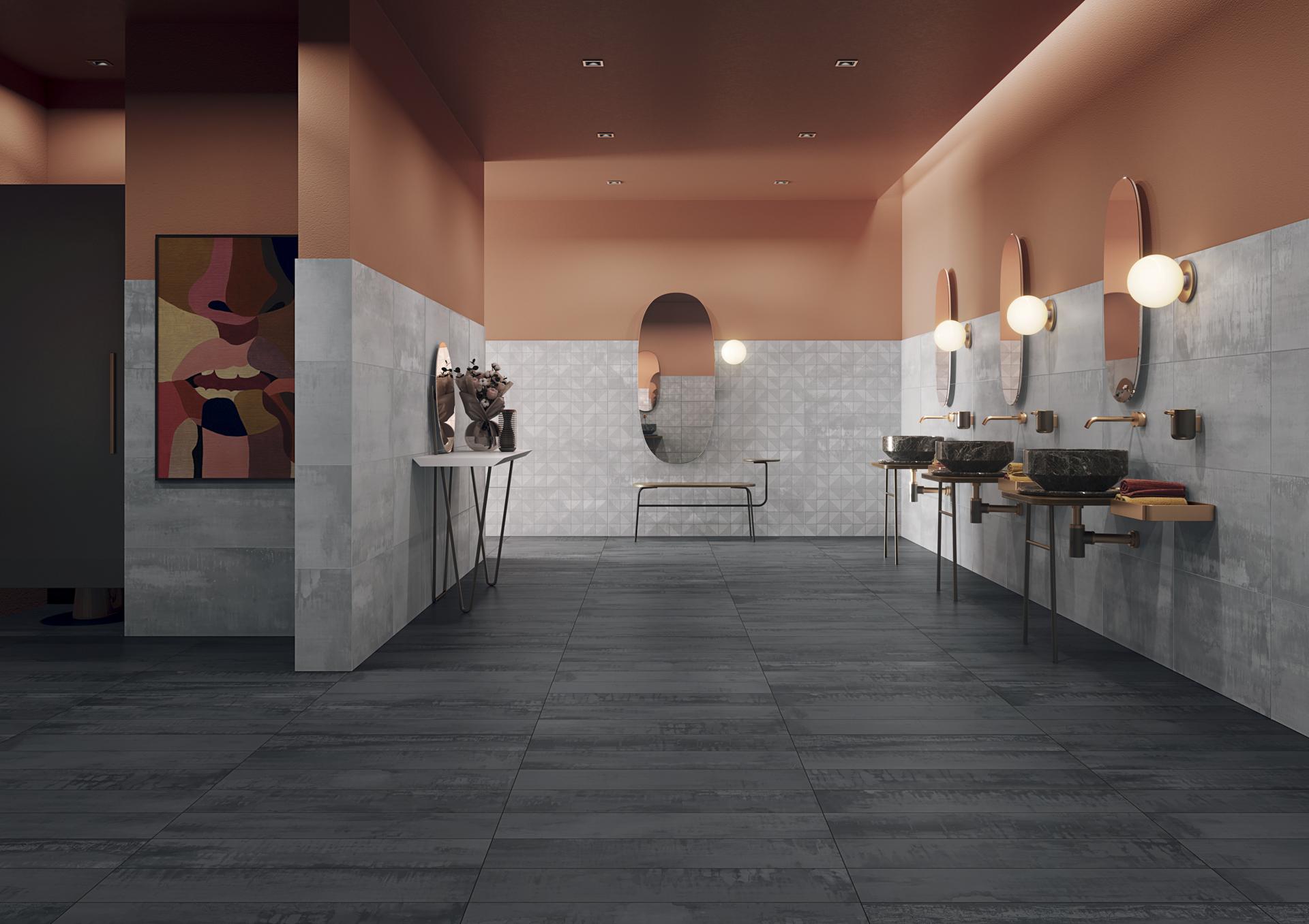 Ambiente com pavimentos e revestimentos cerâmicos | Metallic